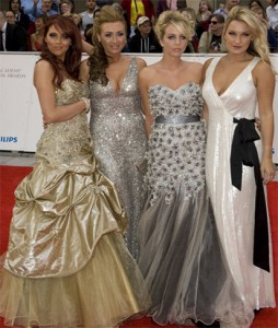 TOWIE girls - (Left to right) Amy Childs, Lauren Goodger, Lydia Bright and Sam Faiers at the Bafta Television Awards