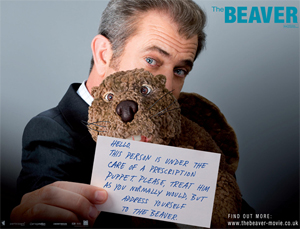 The Beaver starring Mel Gibson