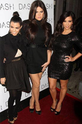 The Kardashian sisters at a DASH event