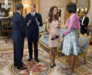 William and Kate greet Barack and Michelle Obama at Buckingham Palace