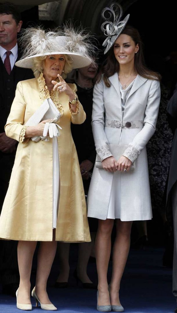 Camilla and Kate at the Order of the Garter service