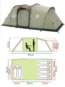 Coleman Mackenzie Cabin X6 Tent