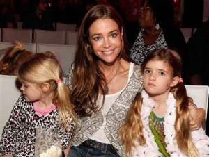 Denise Richards with her two biological daughters, Sam and Lola