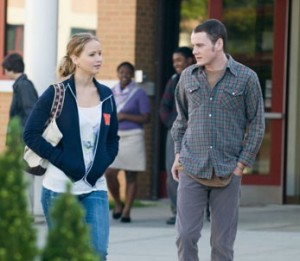 Jennifer Lawrence and Anton Yelchin in The Beaver