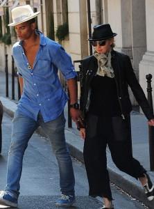 Madonna with Brahim Zaibat in Paris