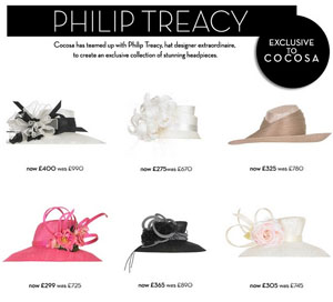 Philip Treacy for Cocosa