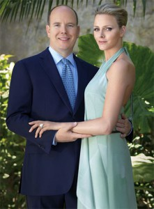 Prince Albert and South African former swimmer Charlene Wittstock in hteir engagement photo