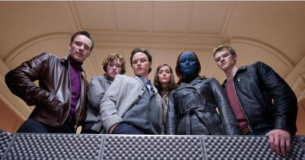 Rose Byrne (centre) in X Men: First Class