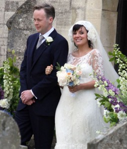 Sam Cooper and Lily Allen after the ceremony