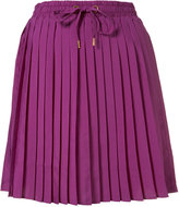 Topshop Ruched Waist Pleated Skirt