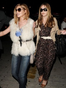 Cheryl Cole and Kimberley Walsh in LA