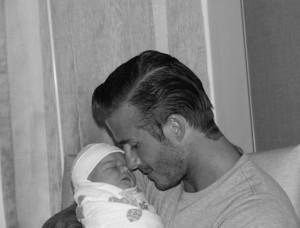 David Beckham with Harper
