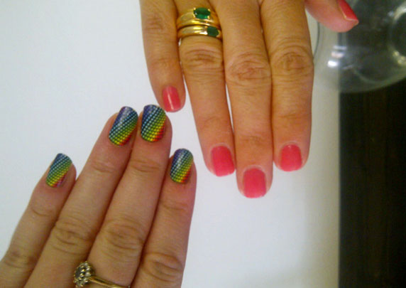 Emma (left) and Krista (right) #FF nails