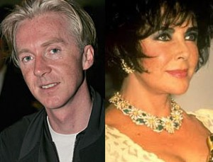 Hat designer, Philip Treacy and Elizabeth Taylor