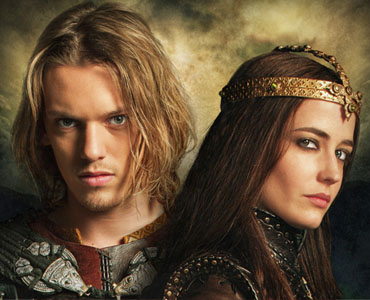 Jamie Campbell Bower and Eva Green in Camelot