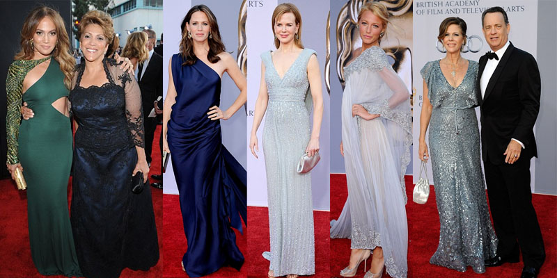 Jennifer Lopez and her mother, Jennifer Garner, Nicole Kidman, Blake Lively and Tom hanks ans his wife, Rita.