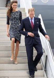 Kate and William arrive in Canada