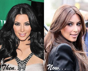 Kim Kardashian going lighter...