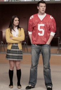 Lea as Rachel and Cory as Finn