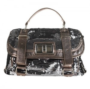 Silver Sequin Satchel