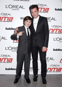 Theo Stevenson and Matt Horne arriving for the 2011 National Movie Awards at Wembley Arena