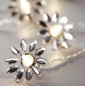 Tu Silver Jewel Flower String Light
