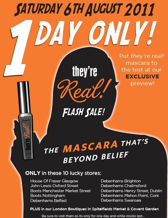 Benefit Flash Sale!