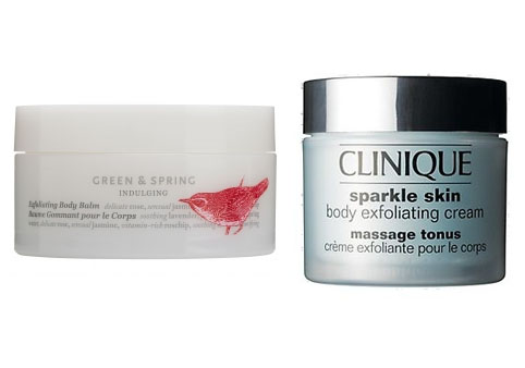 Body Scrubs - Green & Spring and Clinique