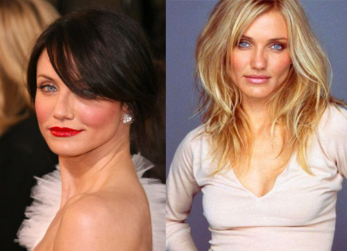 Cameron Diaz - from black to blonde