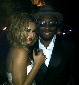 Cheryl and will.i.am in Cannes
