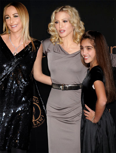 Frida Giannini with Madonna and Loudres