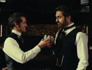 Hugh Dancy and Rupert Everett in Hysteria