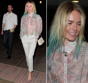 Kate Bosworth with her dip-dyed hair