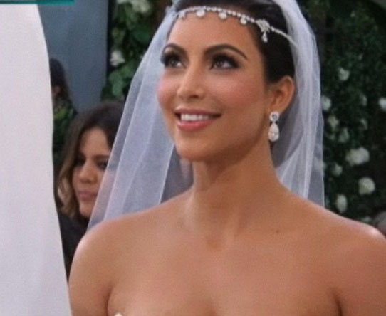 Kim Kardashian during the ceremony