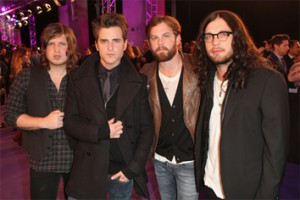 Kings Of Leon (Caleb is 3rd from the right)