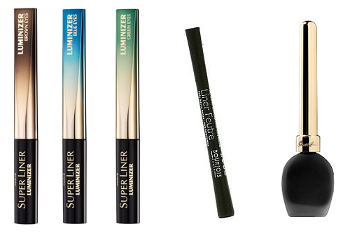 L'Oreal Superliner Luminizer, Bourjois Liner Feutre and Guerlian Eye Liner