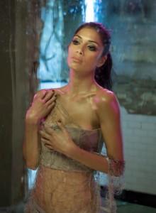 Nicole Scherzinger on set in the video for 'Wet'
