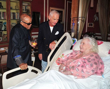 Quincy Jones with Prince Frederic von Anhalt and Zsa Zsa Gabor