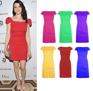 Rachel Weiss in Valentino and the George at ASDA dress