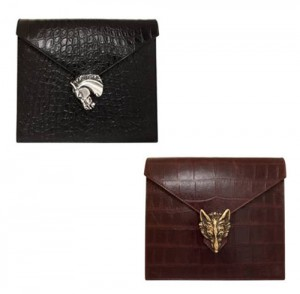 Rocco Oversized Clutches in Black and Brown