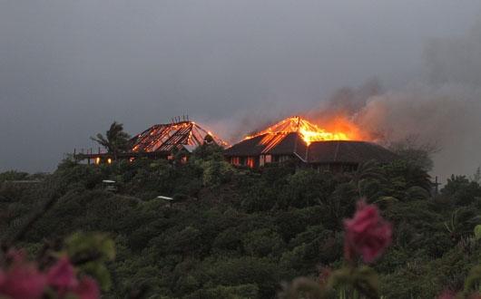The Necker Island fire