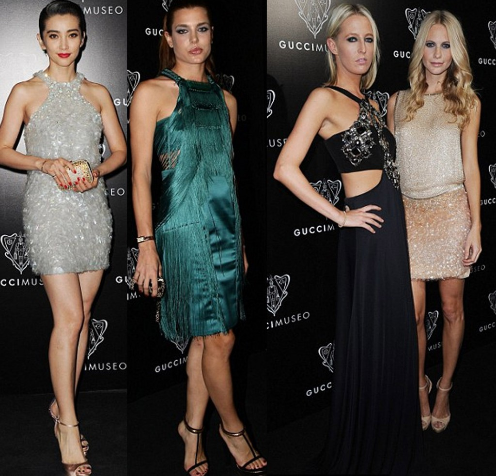 Li Bingbing, Poppy Delevigne and Charlotte Casiraghi of Monaco, Sophia Esketh at Gucci Museo