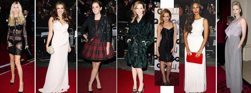 Abbey Clancy, Kelly Brook, Emma Watson, Kylie Minogue, Leona Lewis and Charlize Theron