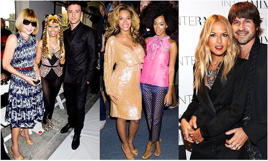 Anna Wintour, Nicki Minaj and Justin Timberlake, Beyonce and Solange Knowles and Rachel Zoe with her hubby Roger
