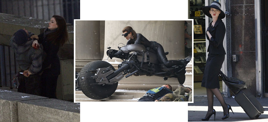 Anne Hathaway as Selina Kyle/Catwoman