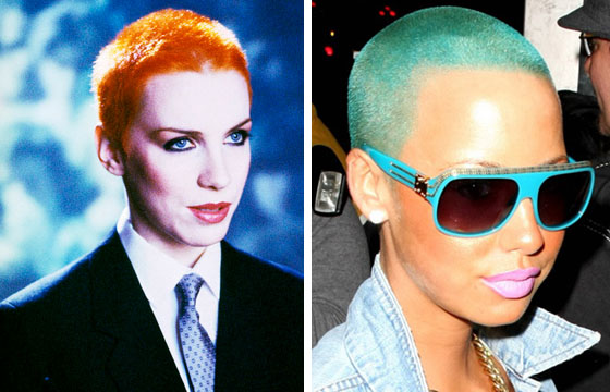 Annie Lennox and her copycat, Amber Rose