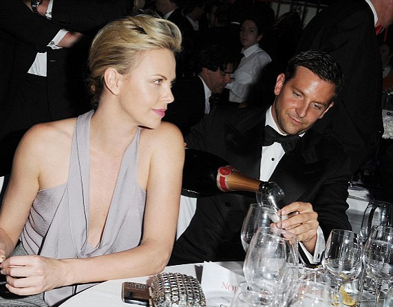 Bradley Cooper with Charlize Theron