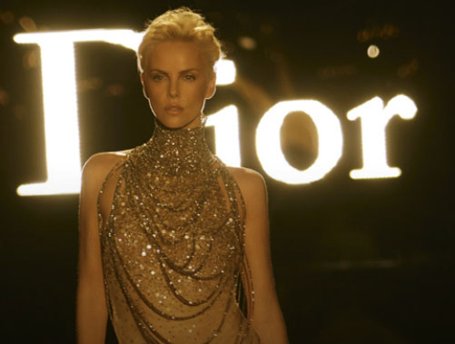 Charlize Theron in the new J'Adore ad