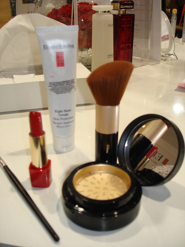 Elizabeth Arden beauty products used in the makeover