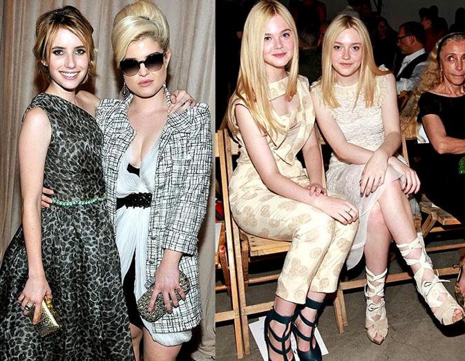 Emma Roberts and Kelly Osbourne and Elle and Dakota Fanning
